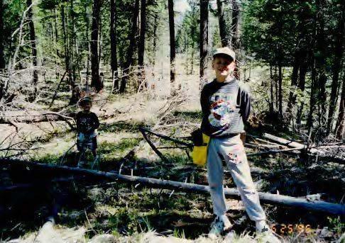 eddie in the forest
