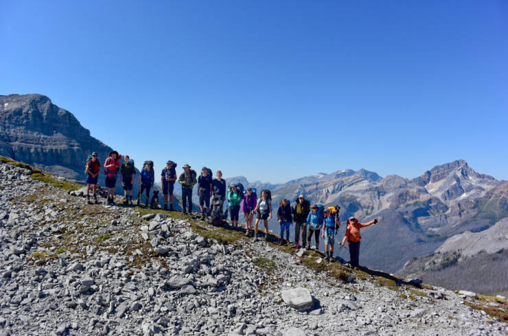 Go Wild 2016 Participants at Pass in the Clouds, between Elk Lakes and Height of the Rockies Provincial Parks.