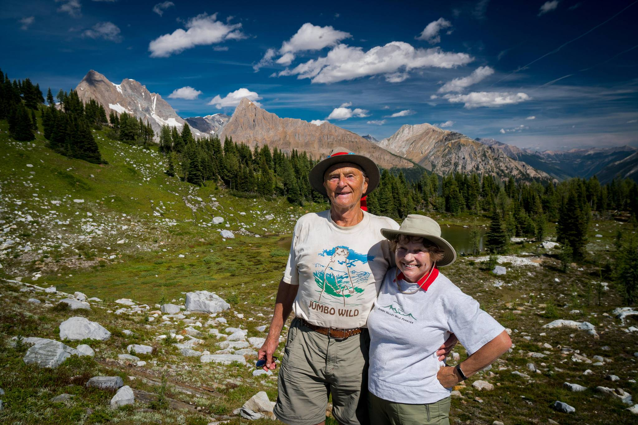 Long-time Jumbo Wild supporters Bob and Lorraine Campsall.